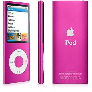 Apple iPod nano 4th Generation Pink (8GB) - Branded Logo (see pics) A1285