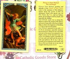 St Michael with Prayer to Saint Michael the Archangel - Laminated Holy Card