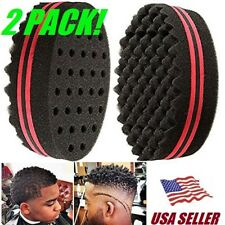 2x Magic Hair Brush Sponge Double Side Texture Locking Twist Coil Afro Curl Wave
