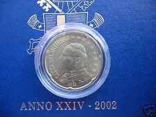 manueduc  Vaticano 2002  20  Céntimos   Juan Pablo II  De Cartera  Nuevos