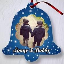 ALBERO di Natale personalizzata Ornamento Decorazione-BELL-Stelle Blu Scuro