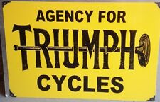 TRIUMPH CYCLES ENAMEL SIGN (MADE TO ORDER) #95