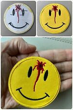 "GUN SHOT SMILEY FACE PATCH 3"" Iron-on Motorcycle Biker Morale Airsoft Paintball"