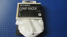 Giro comp racer low hidden cycling bike socks size L large BNWT white/black
