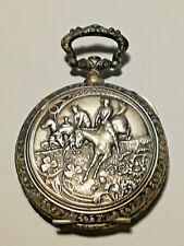boite de montre gousset 1900 argentan course chevaux d'obstacles FRAINIER neuf