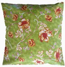 "Cushion Cover vintage green floral Cotton Home Sofa pillow envelope back 16"""