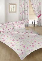Owls Children's Double Bed Duvet Cover Set 2 Pillowcases Bedding Kids Twit Twoo