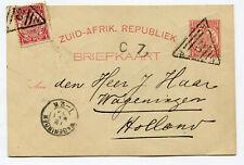 Transvaal 1894 uprated stationery card ZAR/20 Smitsdorp