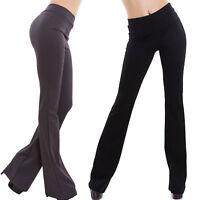 Pantaloni donna campana vita alta zampa elefante elasticizzati nuovi GI-7032