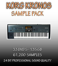 KORG KRONOS - FOR PROPELLERHEADS REASON REFILL + WAV FORMAT - 33 DVD'S - 135 GB