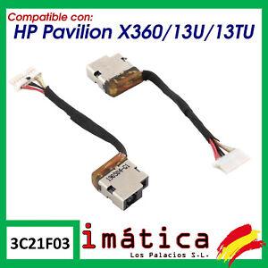 CONECTOR DE CORRIENTE PARA PORTATIL HP PAVILION X360 / 13U / 13TU CARGA PUERTO