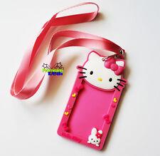 New Cute Hello Kitty Badge Lanyard Card Holder Wallet Neck Strap Travel Work