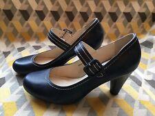 Clarks Blue Mary Jane Heels Size 5