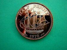 HALF PENNY - 1970 .1oz Copper Round Coin