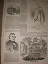 Queenwood College & Surrey theatre redecorated 1849 prints and article
