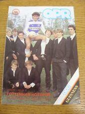 12/01/1985 Queens Park Rangers V Tottenham Hotspur (Piccolo Ritaglio corrispondenza all'interno