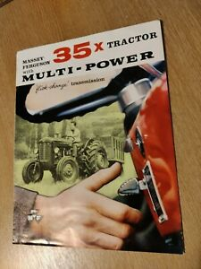 MASSEY - FERGUSON 35 X MULTI - POWER TRACTORS COLOUR FARMING SUPERB BROCHURE VGC