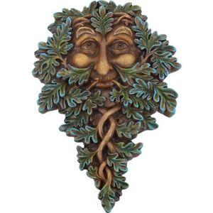 "Tree Spirits ""Oak Guardian"" 19 cm Green Man Wall Plaque"