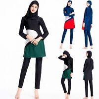 Women Islamic Muslim Full Cover Costumes Modest Swimwear Swimming Beachwear Arab