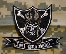 Patch Just Win Baby Skull and Cross Bones RARE