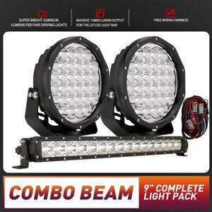BANSIT 9inch Osram Spot Flood LED Driving Lights Spotlights Pack 22in Light Bar