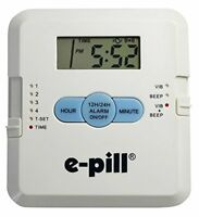 Handy & Simple to Set Up Pill Dispenser w/ Loud Alarm Timer & Vibration Reminder