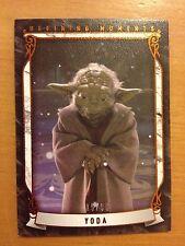 2015 Topps Star Wars Masterwork Defining Moments Yoda Canvas 15/99