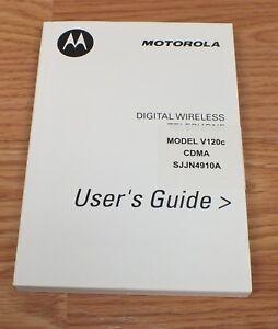 OEM Manual Only For Motorola (V120C) CDMA Digital Wireless Telephone Cell Phone