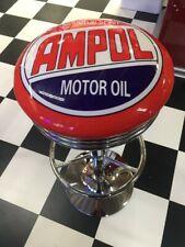 BAR RETRO DINER STOOL - AMPOL - MOTOR OIL - AUTO - ADJUSTABLE - BRAND NEW