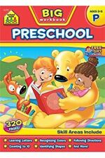 Big Preschool Workbook By School Zone (AGES 3-5, 320 Pages) NEW