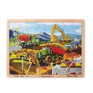 Melissa & Doug Wooden Jigsaw Puzzle – Construction