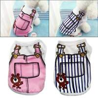 Fashion Cute Breathable Sleeveless Fake Strap Pet Dog Puppy Shirt Vest Costume #