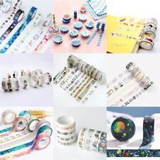 Retro Blumen Hirsch Tape Klebeband Papierklebeband DIY Washi Masking Dekor &L