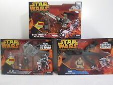 Star Wars ROTS AT-RT, Boga, Barc Speeder Figure Vehicle Lot ~ Hasbro 2005 FS
