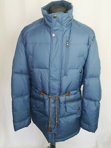 Bosideng Mens Jacket COAT Blue DUCK DOWN Winter Warm Puffer XXXL 3XL - L455