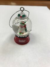 Cute GANZ Personalized Name Snowman Snow Globe Ornament Amber