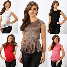 Party Lace Cap Sleeve Tops & Shirts for Women