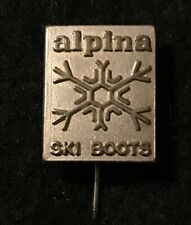 ALPINA SKI BOOTS Skiing Stick Pin Badge Cross Country Sports Souvenir Lapel