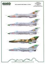 "Model Maker Decals 1/48 MIKOYAN MiG-21 ""FISHBED"" Fighter UGANDA AIR FORCE"
