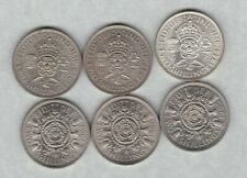 More details for six florins 1944/1947/1948/1965/1966 & 1967 in near mint condition.