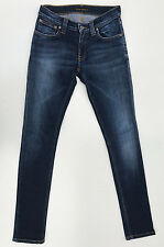 EUC RRP $249 Womens Nudie Jeans 'TIGHT LONG JOHN DARK SUPERBLUE' Jeans W25 L32