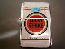 LUCKY STRIKE STAR LIGHTER NOVELTY CIGARETTE PACK STYLE & EXTRA ZIPPO FLINTS