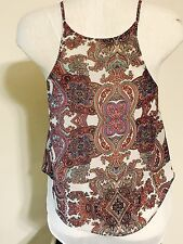 IRIS Youth Girl's Paisley Sleeveless Top  Size Small