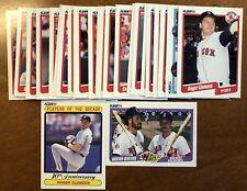 1990 Fleer Boston Red Sox Complete Team Set Division Winner Clemens Boggs