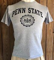 Penn State Nittany Lions Men's Medium Tshirt Vintage 90's Short Sleeve Gray PSU