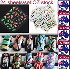 Nail Stickers Foil Tips 3D Diamond Art Transfer Manicure Polish Decal Decoration