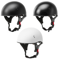2021 GMAX HH65 Naked Half Face Street Motorcycle Helmet - Pick Size & Color