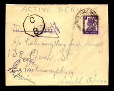1944 British Indian Forces Cover to South Africa - L5459