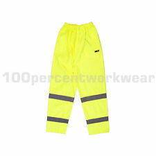 Size MEDIUM Warrior SEATTLE High Visibility Waterproof Over Trousers Pants New