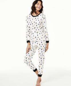 MACY'S Family Pajamas Unisex Big Kid's Tree Print Pajama Set XL X-Large14-16